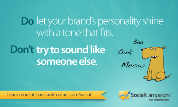Facebook tip: Let your personality shine, don't try to sound like someone else