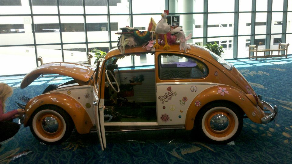 Beetle car converted to a photo booth