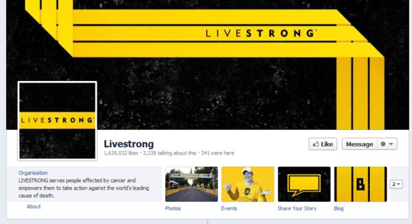 Livestrong Facebook tabs