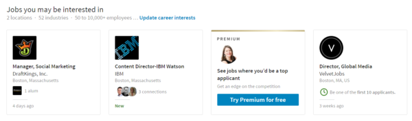 When you post a job on LinkedIn, the site will recommend it to users with interest and experience that fit the position.