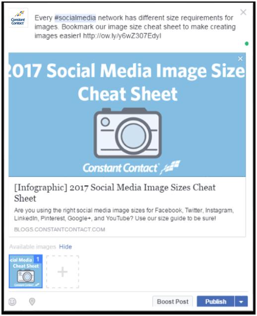 Schedule Facebook posts image 1