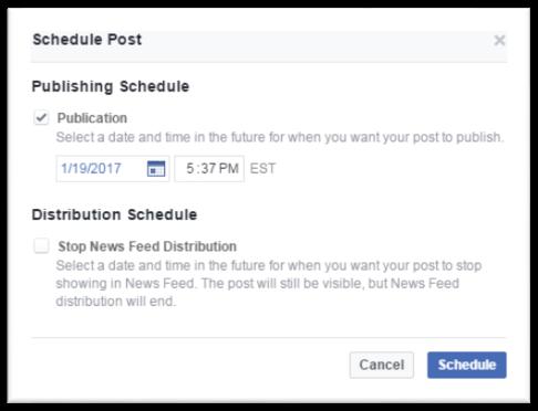 Schedule facebook posts 3