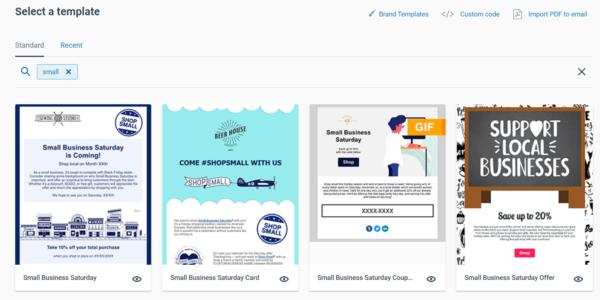 constant contact small business saturday templates #smallbizsaturday shop small
