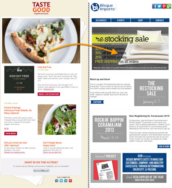 10 great looking mobile friendly email template examples 3 bisque imports pronofoot35fo Images