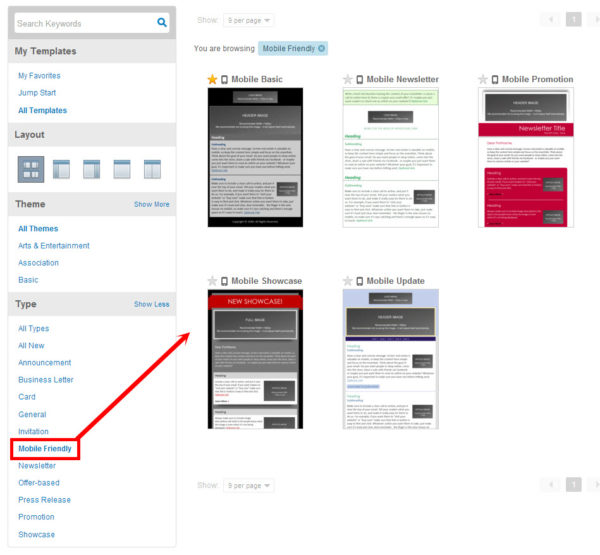 how to find mobile friendly email templates