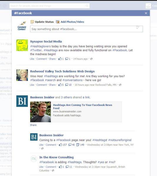 Facebook Hashtags2