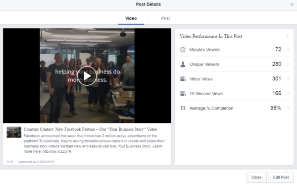 facebook insights video metrics