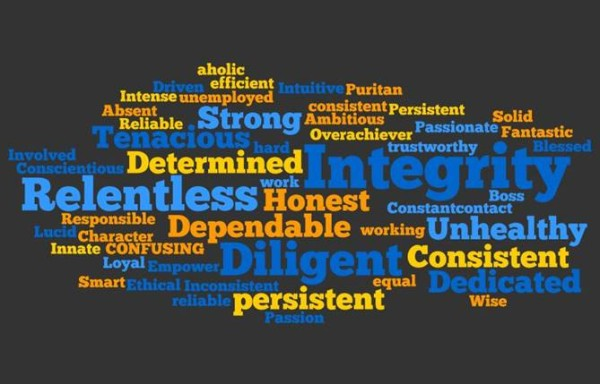 words to describe work ethic
