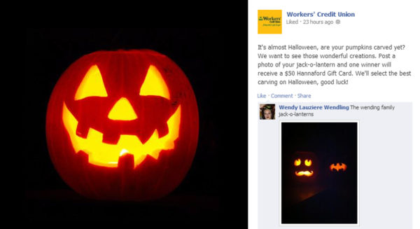 Workers Credit Union Pumpkin Carving Contest