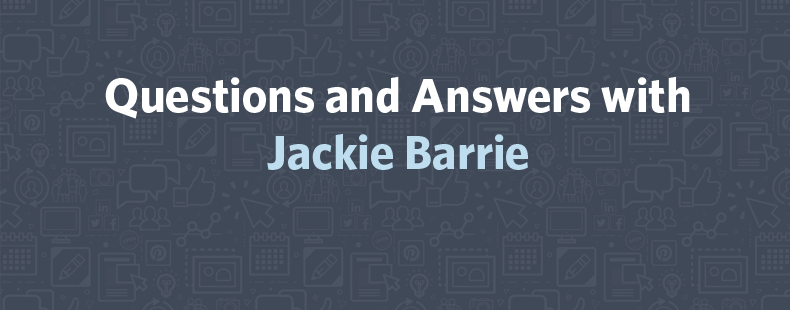 Questions and Answers with Jackie Barrie