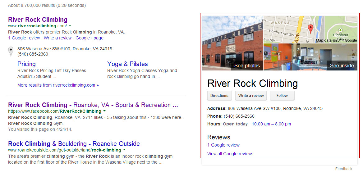 Google Local Page