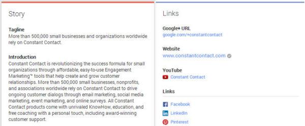 Google Plus About