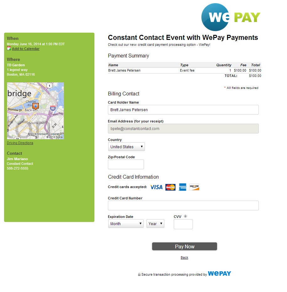wepay blog screenshot