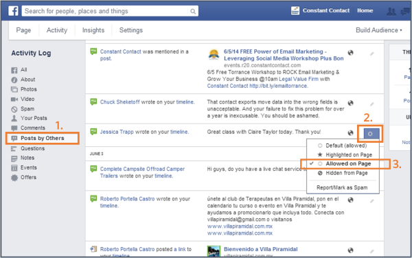 new facebook page trick