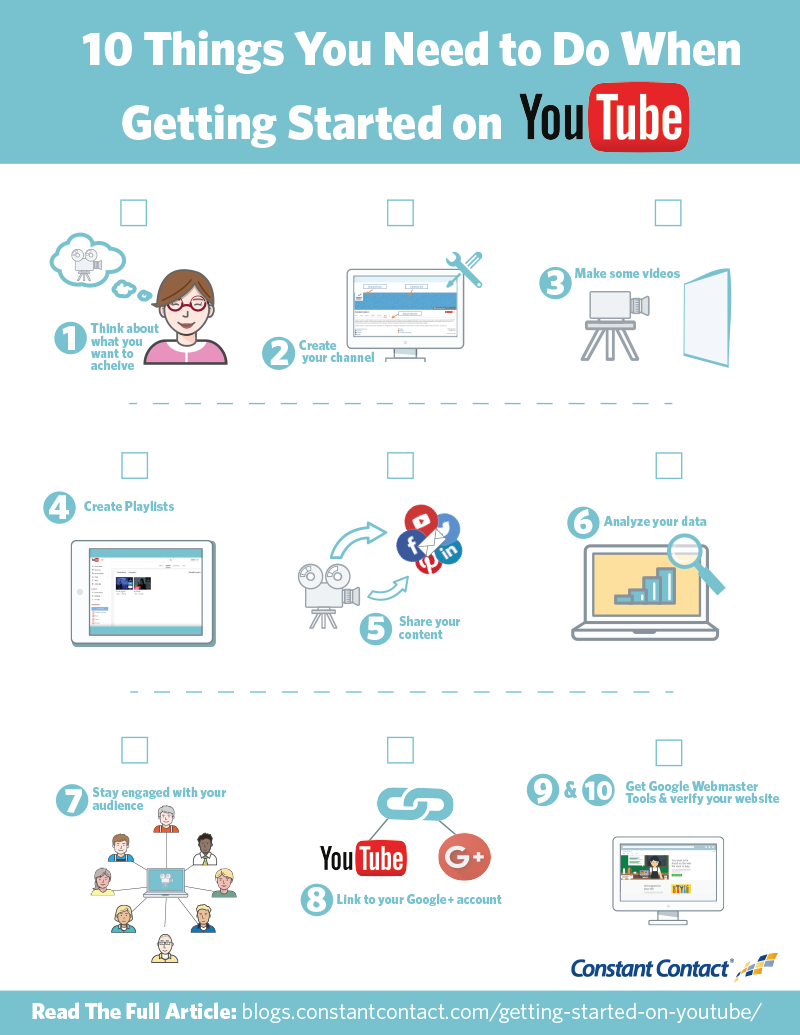 10 Things You Need To Do When Getting Started On Youtube Constant