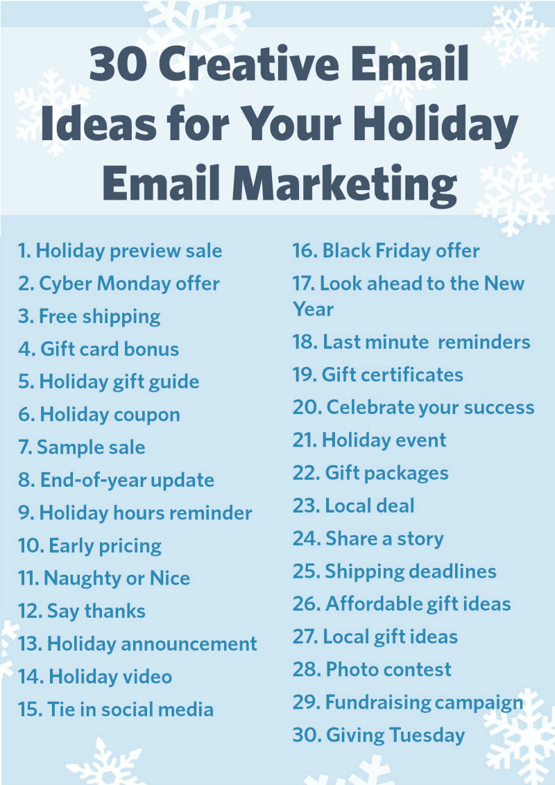 30 Creative Email Ideas for Your Holiday Email Marketing
