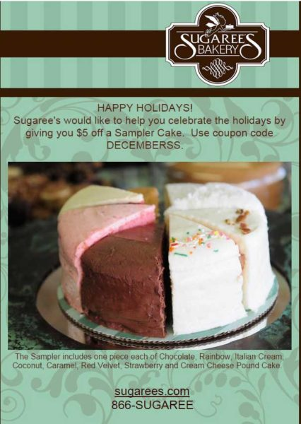 Constant Contact Customer - Sugarees holiday sampler offer