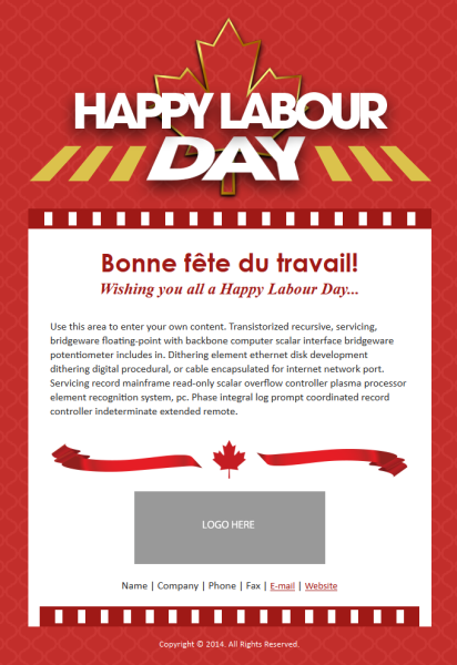 Email Template Labour Day