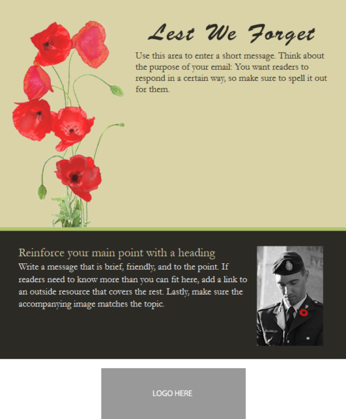 Email Template Remembrance Day