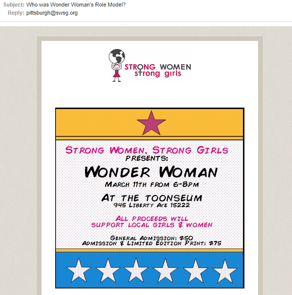 email subject from Strong Women Strong Girls, using a question.