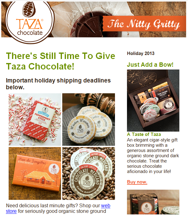 Taza - Shipping Deadlines