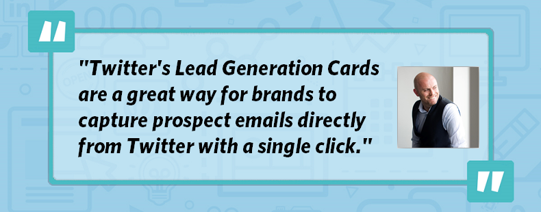 Using Twitter's Lead Generation Cards to Build Your Email List