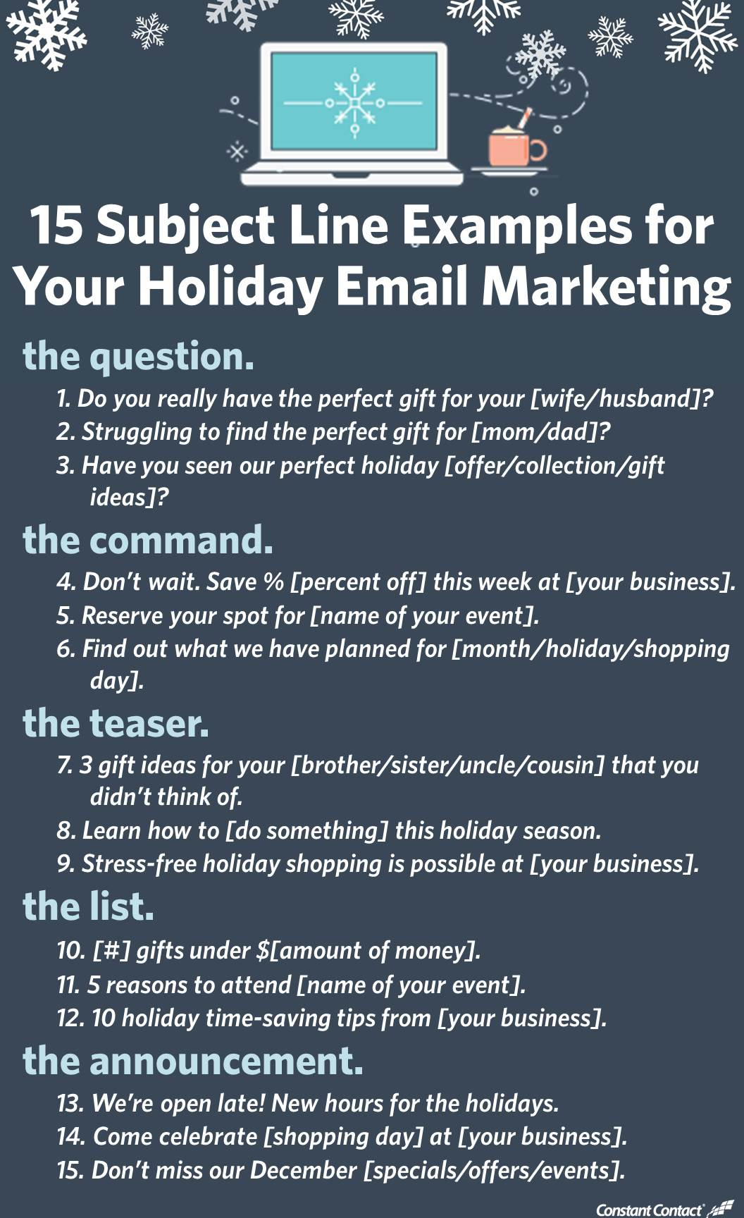 15 subject line examples for your email marketing