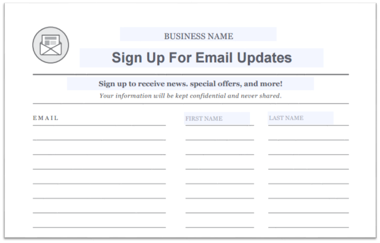 customer sign in sheet template - how purchased email lists can destroy your email marketing