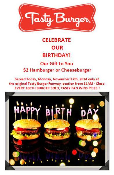 Anniversary - Tasty Burger