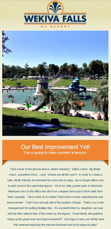 Big News - Wekiva Falls Resort