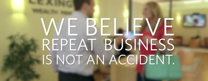 Image result for we believe repeat business is not an accident