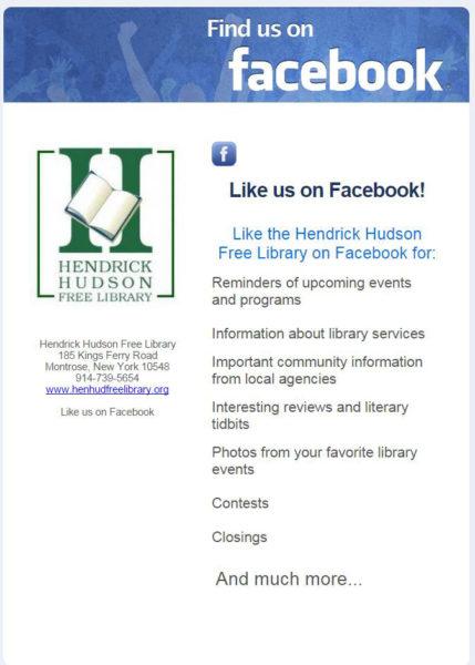 Social - Hendrick Hudson Free Library