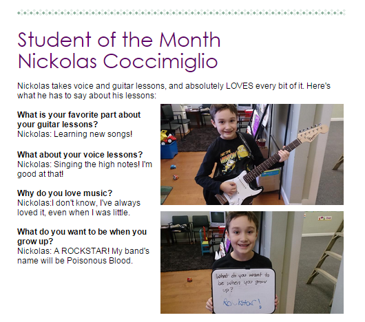 Dominelli student of the month