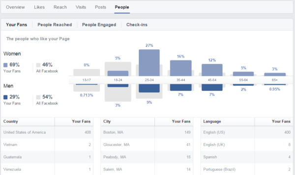 Facebook insight image demographics