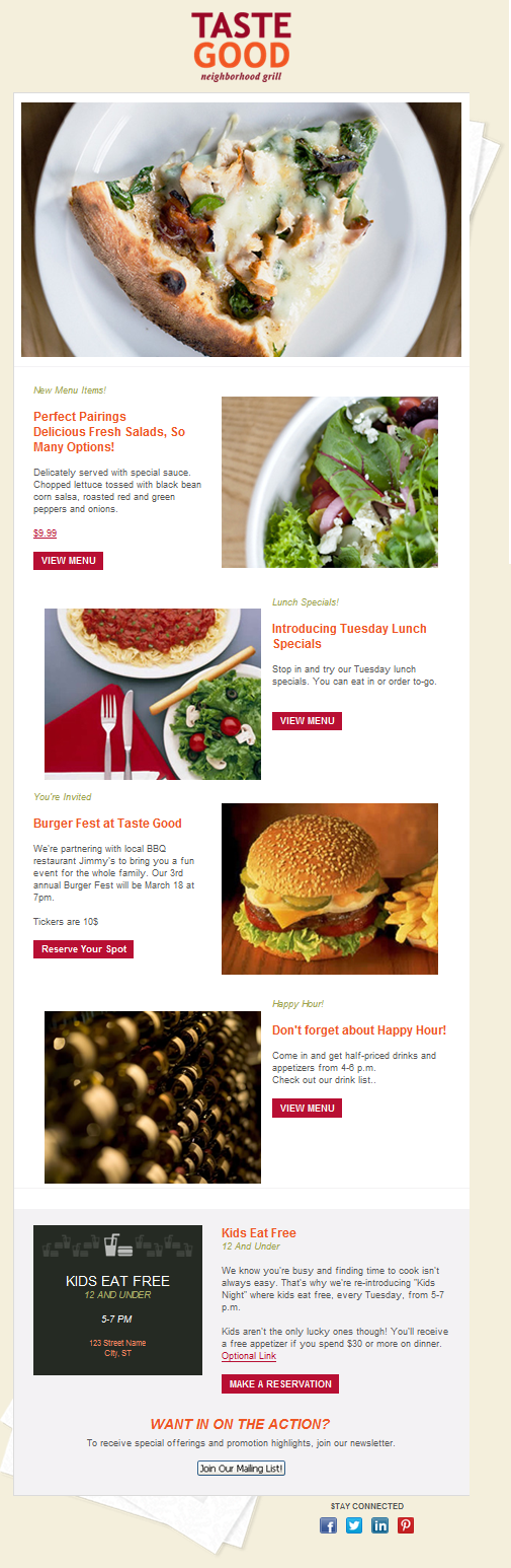 Restaurant Example
