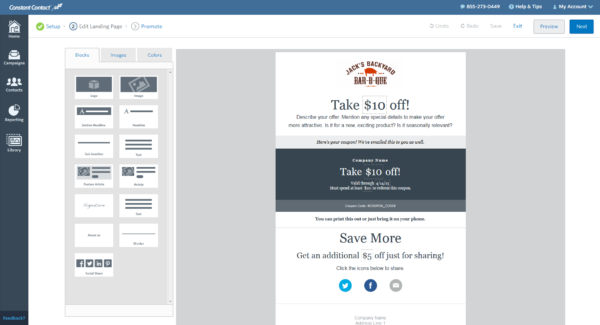 What's New: Coupon Campaign for Constant Contact Toolkit ...