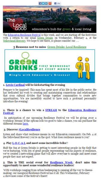 the local good newsletter