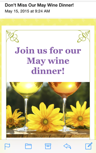 May Wine Dinner