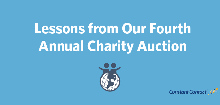 Lessons from Our Fourth Annual Charity Auction