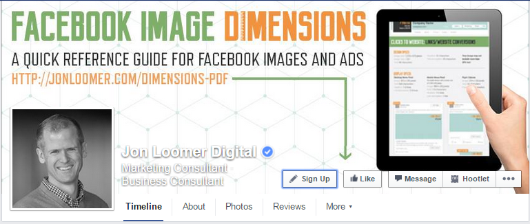 facebook cover photo promoting email