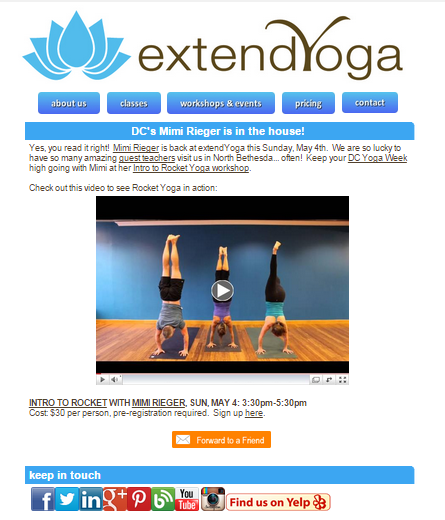 extend yoga email example image