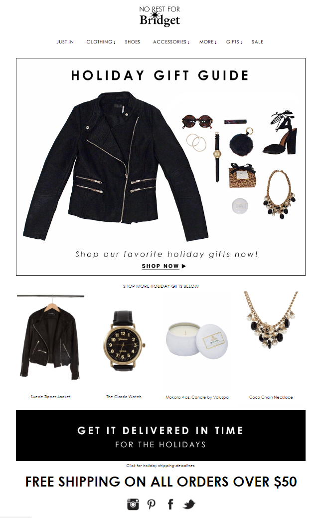 holiday-gift-guide-email-example
