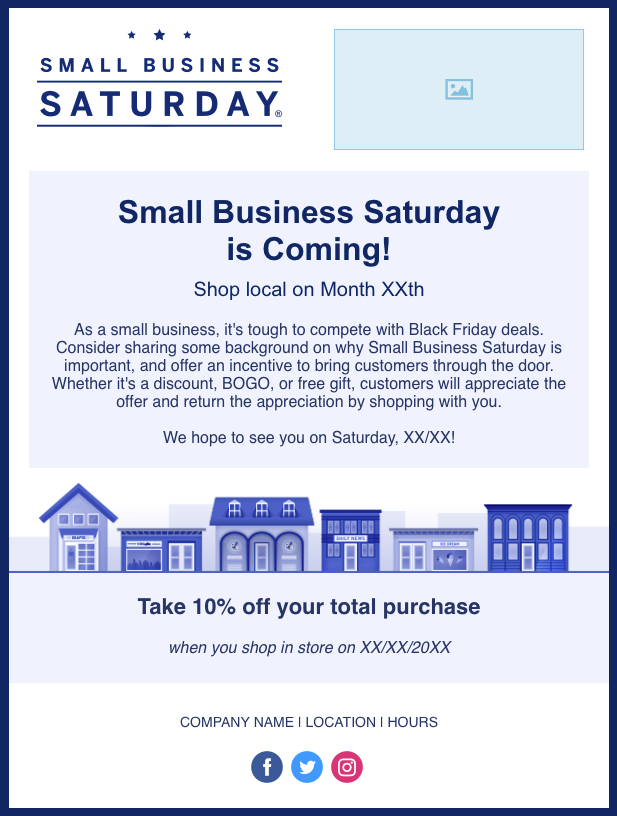 How to create a great last minute offer for small business saturday social media dont forget about your fans and followers on social media similar to your email strategy its best to post at least once announcing your flashek Image collections