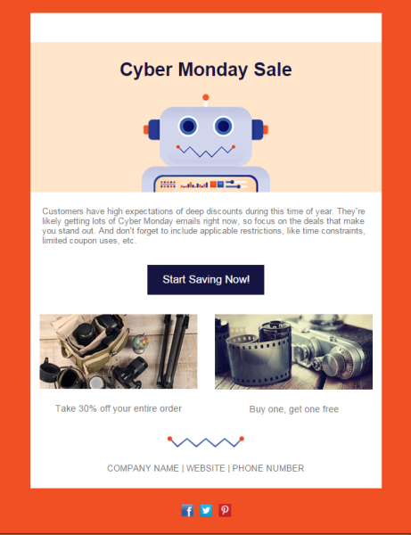 How a small business made 67000 from one cyber monday email cyber monday template pronofoot35fo Images