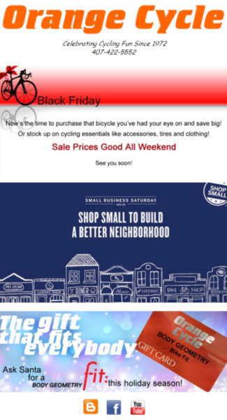 6 weekend sale email campaign example