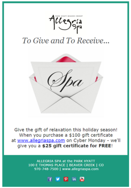 16 gift certificate special offer email example