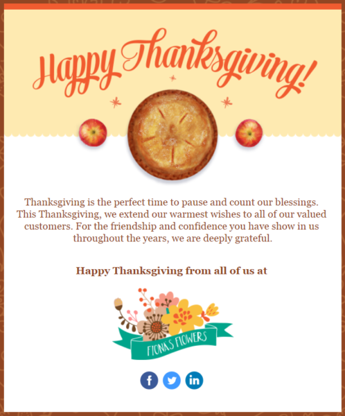 21 thankful thanksgiving email example