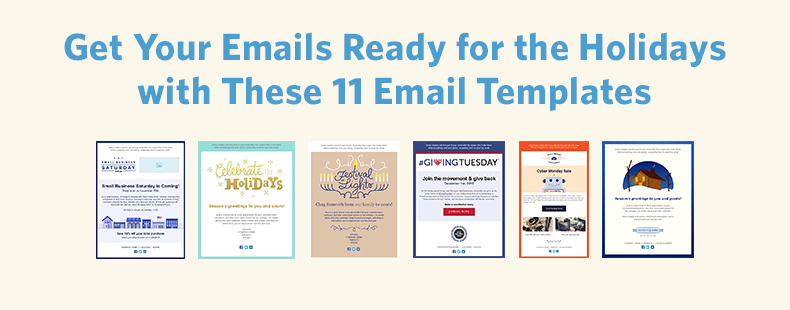 11 holiday email templates for small businesses nonprofits