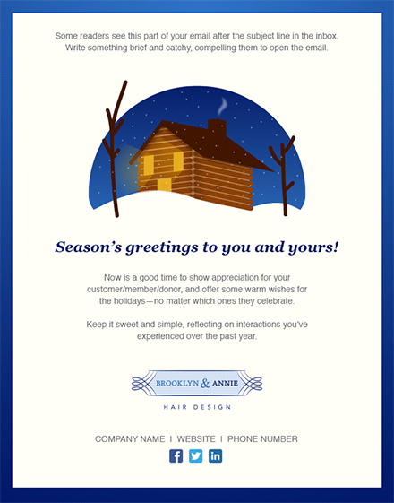 11 holiday email templates for small businesses nonprofits seasons greetings holidaygeneric2 blog m4hsunfo