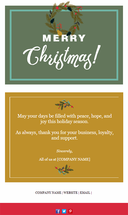 business christmas email